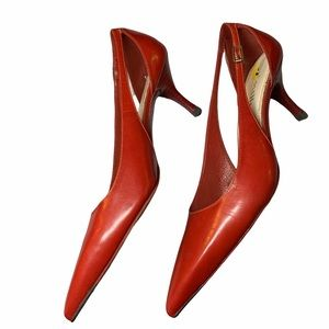 Cole Haan Red Leather Cut Out Pointy pumps Size 9